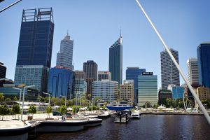 Perth skyline featuring WAIS new office