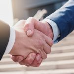 businessmans handshake – Business partnership Concept image