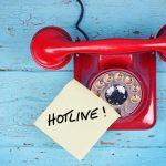 Anrufen bei der Hotline